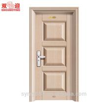 La peau de feuille galvanisée d'intérieur de porte de pièce intérieure en acier de Moden résidentiel lissent en relief en relief