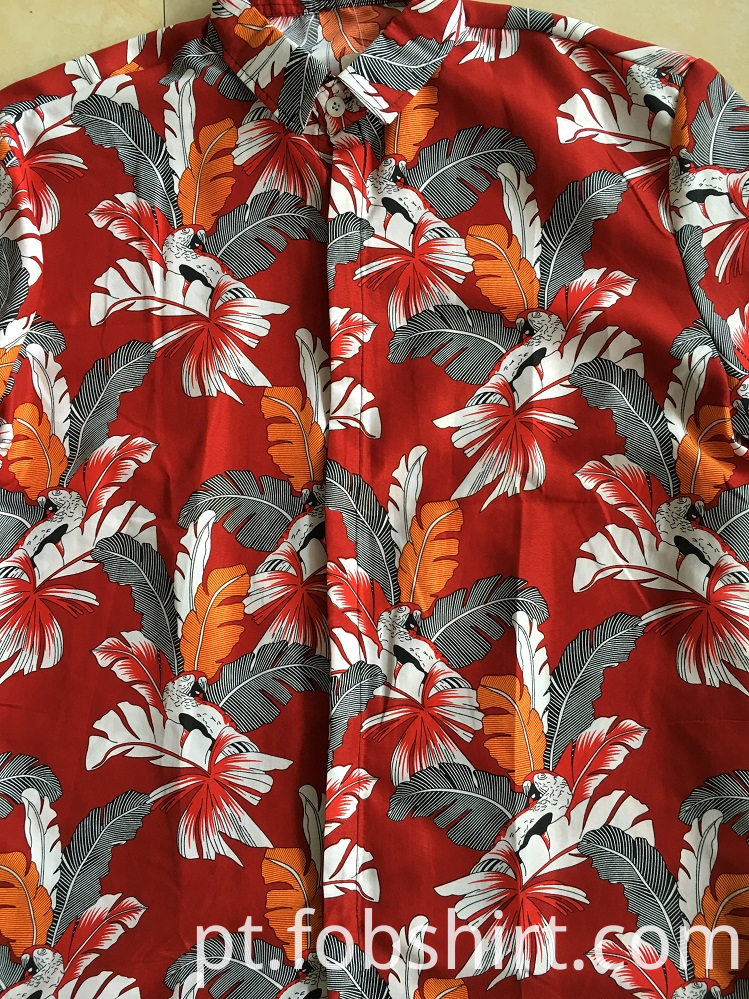Men Hawaiian Beach Shirt Print