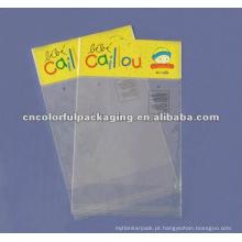 Sacos plásticos do furo do cair Resealable para a embalagem do presente de Natal