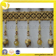 beaded curtain fringe tassel for curtain,sofa and home decoration