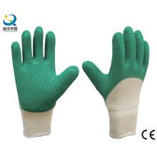 Вязаная запястье, латексная перчатка 3/4 с позолоченными краями