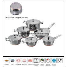 12PCS Impact Copper Bottom Greaseless Cookware Set