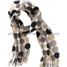New Winter Warm Knitting Printed Polar Fleece Lady Scarf