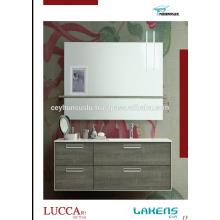 Türkei-Herstellung Preiswertes Badezimmer-Eitelkeit mit Melamin-beschichtetem Mdf Tür- und vertiefter Handgriff-Entwurf