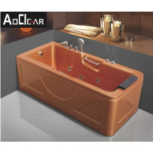 Aokeliya elegant appearance wide  whirpool bathtub with hand shower for all ages