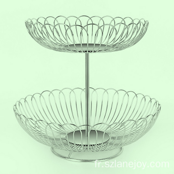 New style hanging fruit basket stainless steel wire fruit basket