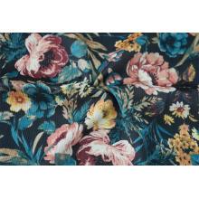 100% Polyester Crinkle Satin Check Dobby Print Fabric