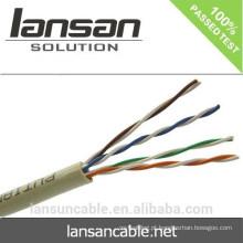 Iso Ce Rohs Certificação Hot Sale Preço de Fábrica Alta Qualidade Utp 24awg Cat5e cabo de rede