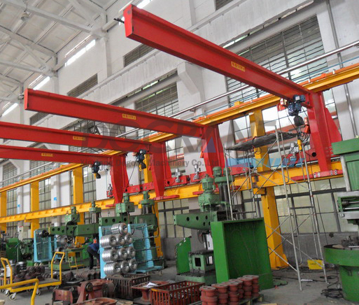 Electric Floor Mounted Slewing Jib Crane