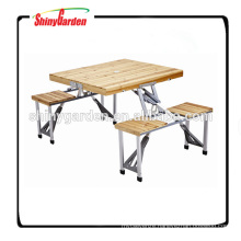Portable Foldable Camping Wood Table