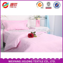 High quality and cheap 100% cotton white satin stripe fabric cotton satin stripe sheeting fabric