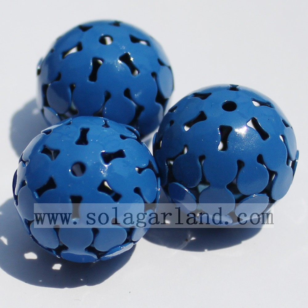 Round Metal Charms Beads