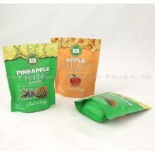 Индивидуальная печатная пластиковая упаковка Встаньте циферблат Ziplock, картофельные чипсы / сумочки с собственным логотипом, сумочки для еды