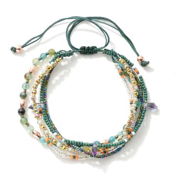 Handmade Summer Beach Style Creative Couple Multi-layer Crystal Friendship Bracelets