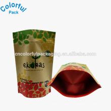 Calor personalizado saco de café de papel kraft marrom selado / Resealale levantar sacos para café ou chá