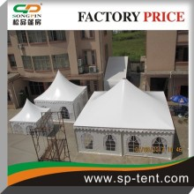White Aluminum frame Outdoor wedding tent 9m by 9m pagoda tent