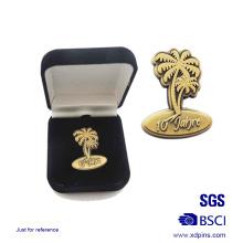 Изготовленный на заказ металл Античная Золотой значок с подарочной коробке