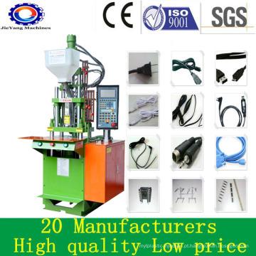 Pequenas máquinas de moldagem por injeção de borracha para cabos de plástico