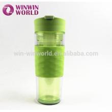 New Design Hot Selling BPA Free Fruit Infuser Bottle 500ml Sports Plastic Water Bottle