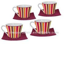 Cor tiras xícara de café e pires para BS120801B