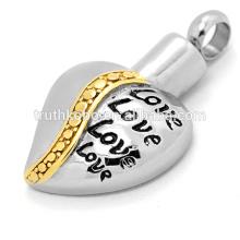 cendres à bijoux pendentif en acier inoxydable amour toujours dans mon coeur nouvelle arrivée vente chaude dongguan usine