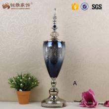 Стеклянные вазы свадьбы центральным главная декоративные цветочные вазы с крышкой и нижнее основание