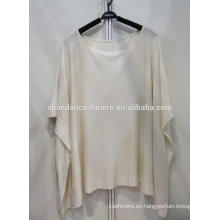Silk55% cashmere45% jersey de cuello redondo para mujer