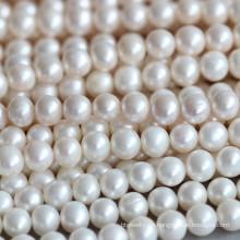 9-10mm runde Süßwasser Perlen Halskette Material Großhandel (E180015)