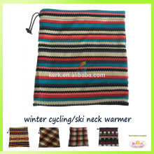 Multi-use tubular bandana for winter wear,fleece knitted neck warmer