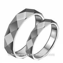 Haute polie, bijoux en anneau intelligent, bagues en tungstène argentées à la mode