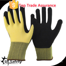 SRSAFETY 13gauge knited nylon liner coated foam latex on palm safety working gloves