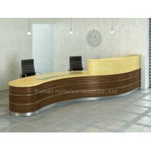 Modern Beauty Curved Salon Reception Desks Counter (HF-R026)