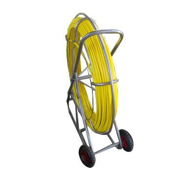 8 * 150m Snake Fiberglass Rod FRP Duct Rodder com Rodas de Borracha