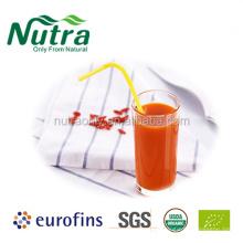 Органический натуральный и чистый порошок сока ягод годжи