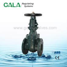 BS / MSS metal assentado api flangeado válvula de portão, fabricado na China manual levantando haste válvula de portão