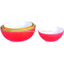Bols de plastique de qualité alimentaire vert 4pcs/set PP matériel saladier avec SGS approuvé