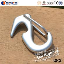 Crochet à ressort à extrémité ouverte en acier inoxydable poli