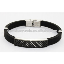 wholesale fashion jewelry Black silicone bracelet for man China Supplier & Manufacturer & Factory