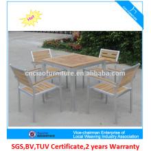 Vente chaude teakwood et meubles de jardin d'extérieur de cadre de jardin en aluminium
