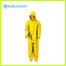 2PCS Jaune PVC Polyester Homme Rainsuit (Rpp-034)