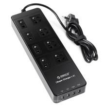 ORICO TPC 8A4U 8 outlets protetor contra sobretensão com porta de carregamento inteligente USB