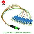 12-24-жильный кабель MPO Hydra Cable Patchcord