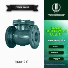 Dn 150 válvula de retenção de balanço de ferro fundido