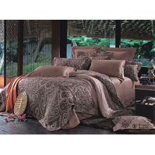 Super macia clássica Plaid impressão luxuosa casamento conjunto de cama com travesseiro decorativo / Famoso Brand Bedding Set Folha de cama estilo