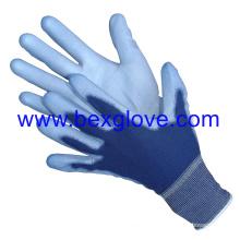 13 Gauge Polyester Liner, Colored, Polyurethane Coating Glove