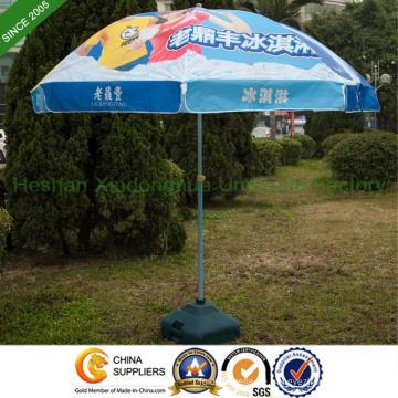 2,2 m Heat Transfer Druck Sonnenschirm mit doppelten Rippen (BU-0048WD)