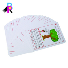 high quality double-sided full color printed round corner flash card printing