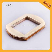 BB51 Top Sale New Handbag Metal Square Ring Slider Adjuster Buckles