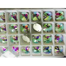 China Hexagon Crystal Ab Sew on Beads Stones