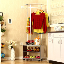 Bedroom Furniture Metal Shoe Rack with Cloth Hanger Store Display (BDS-031)